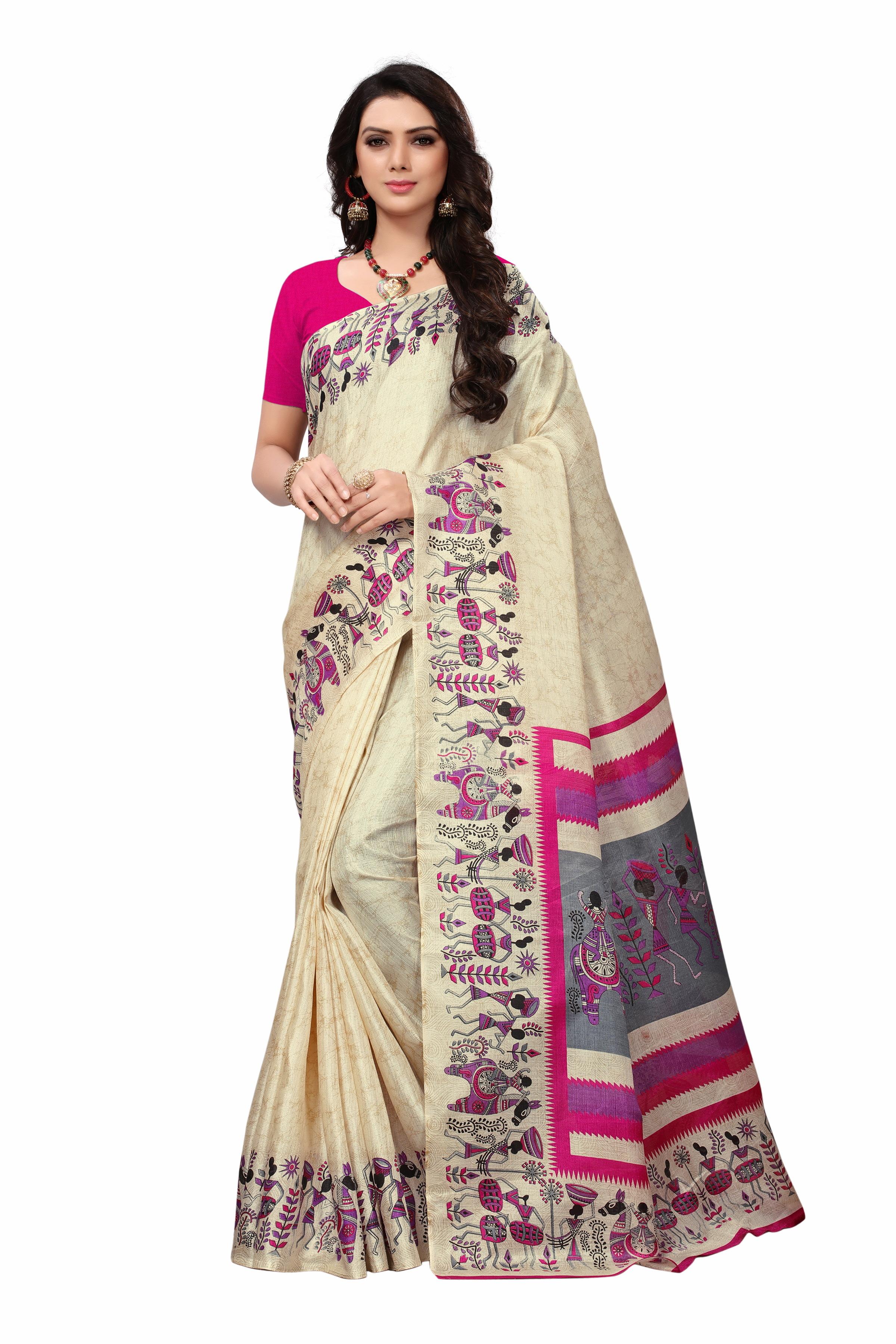 New jute silk saree