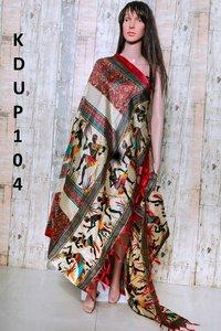 Khadi cotton printed dupatta