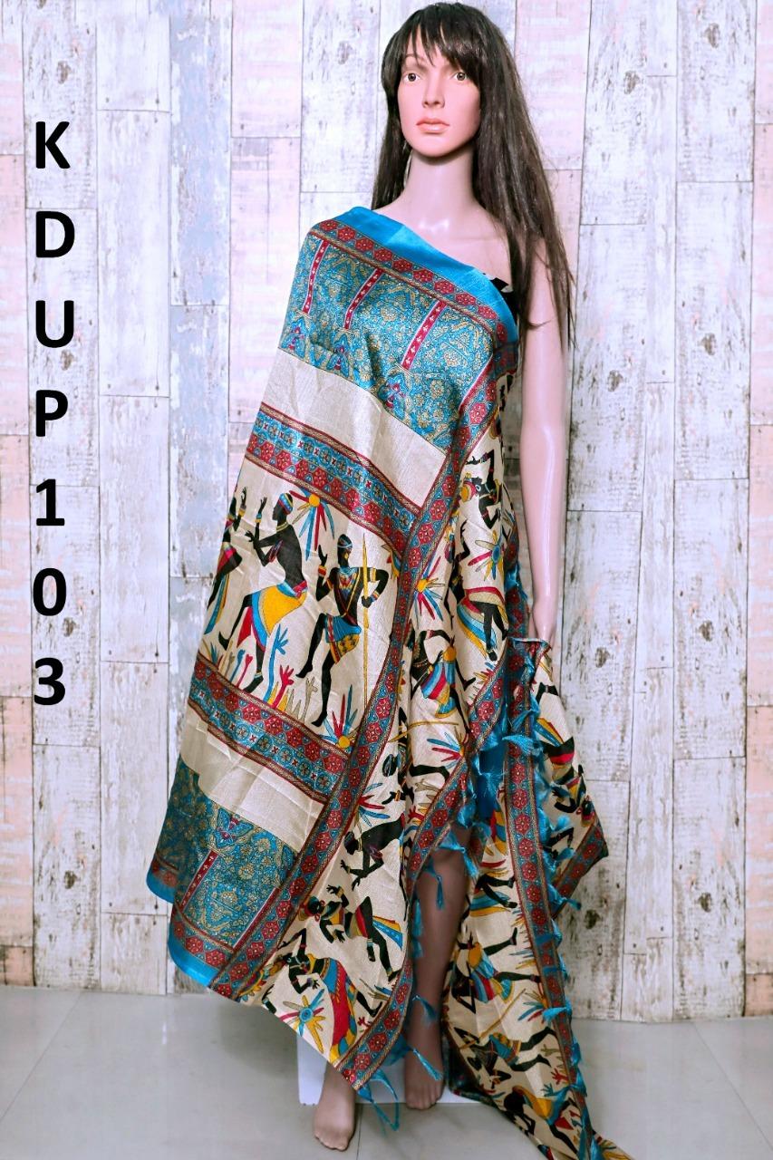 Boho Style Cotton Blend Printed Dupatta