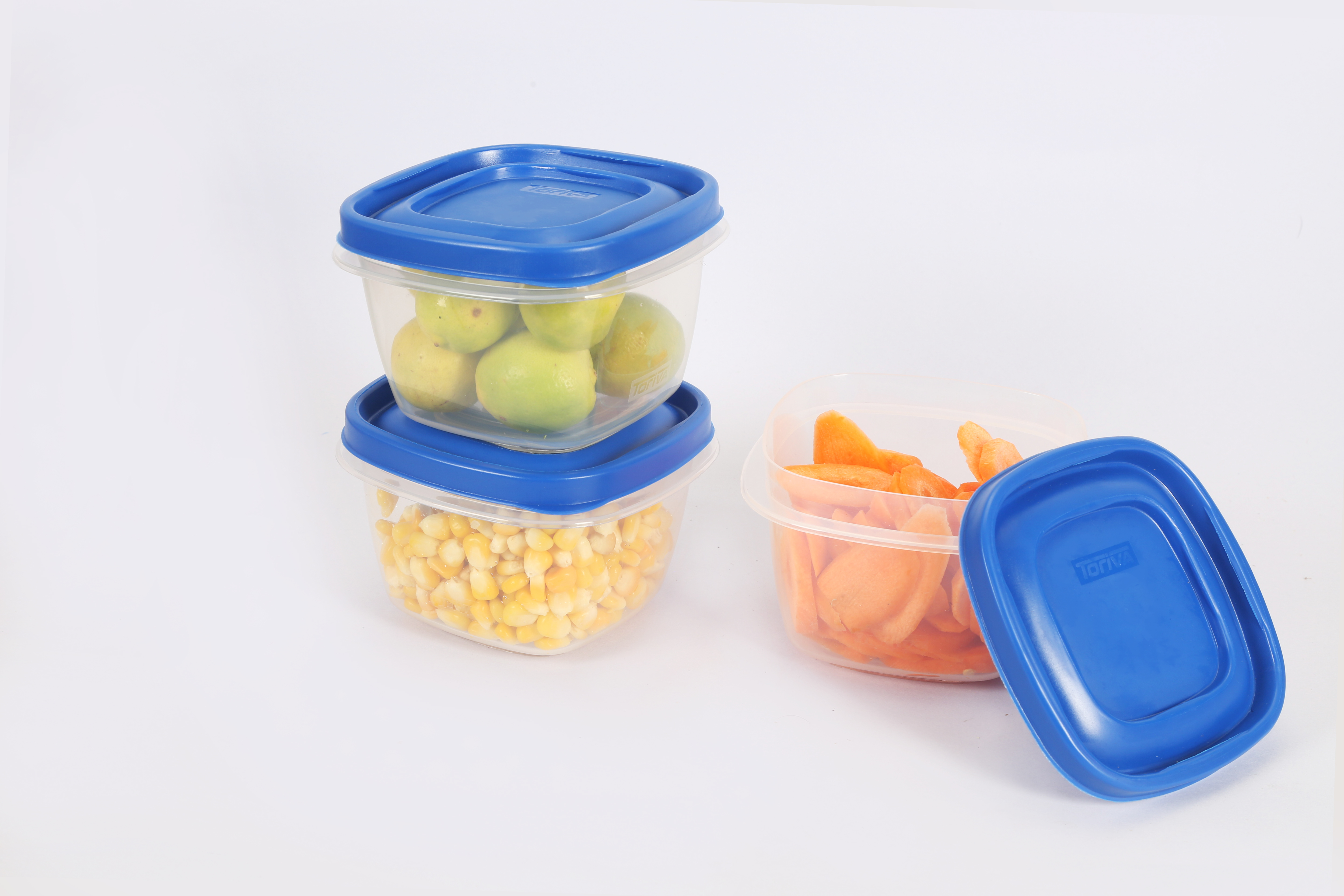 475 ml Plastic Snack Container 3 Pcs Set