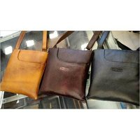 Ladies Plain Leather Bags