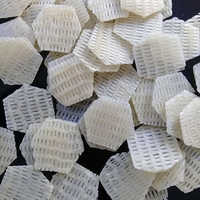White Hexagonal Shape 3D Papad