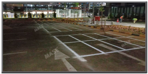 Thermoplastic Car Parking Marking