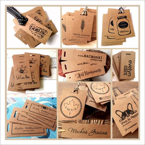 Brown Cardboard Garment Hang Tag