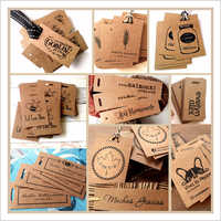 Brown Cardboard Garment Hang Tag