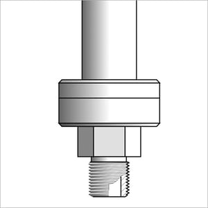 Threaded Seals With Large Diaphragm