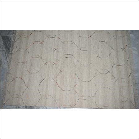 Multiple Hand White Tufted Carpet