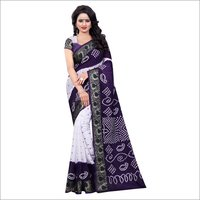 New cotton saree with broad and rich pallu