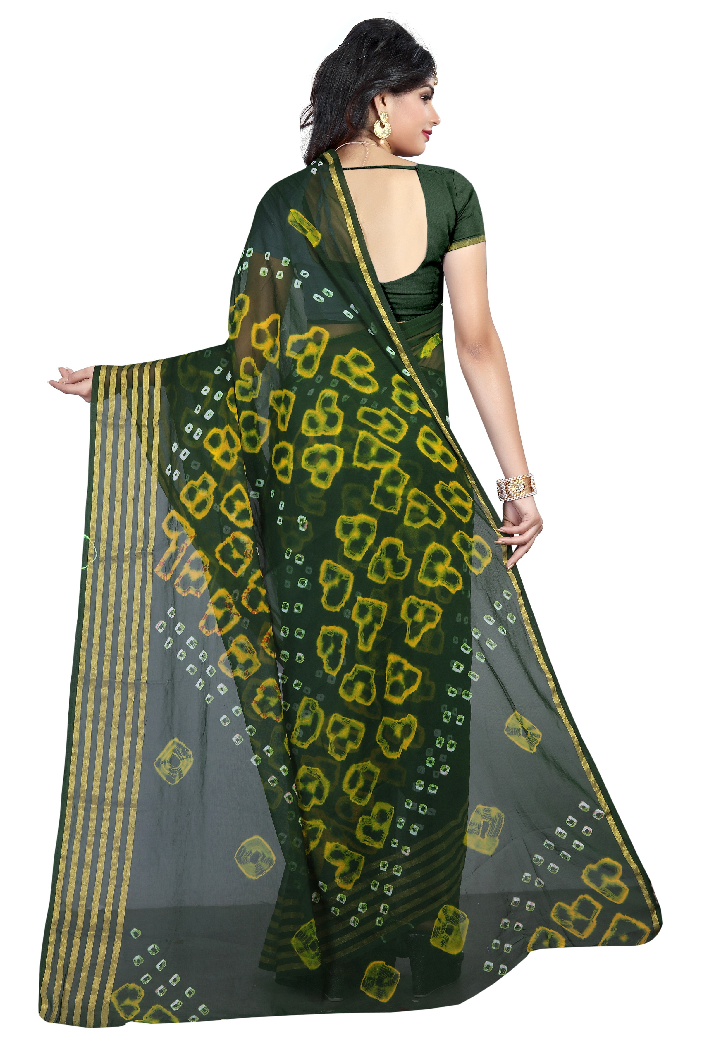 Fancy Festive Wear Bandhani Chiffon saree