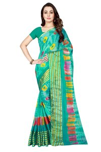 Fancy Line Design print Bandhani chiffon saree