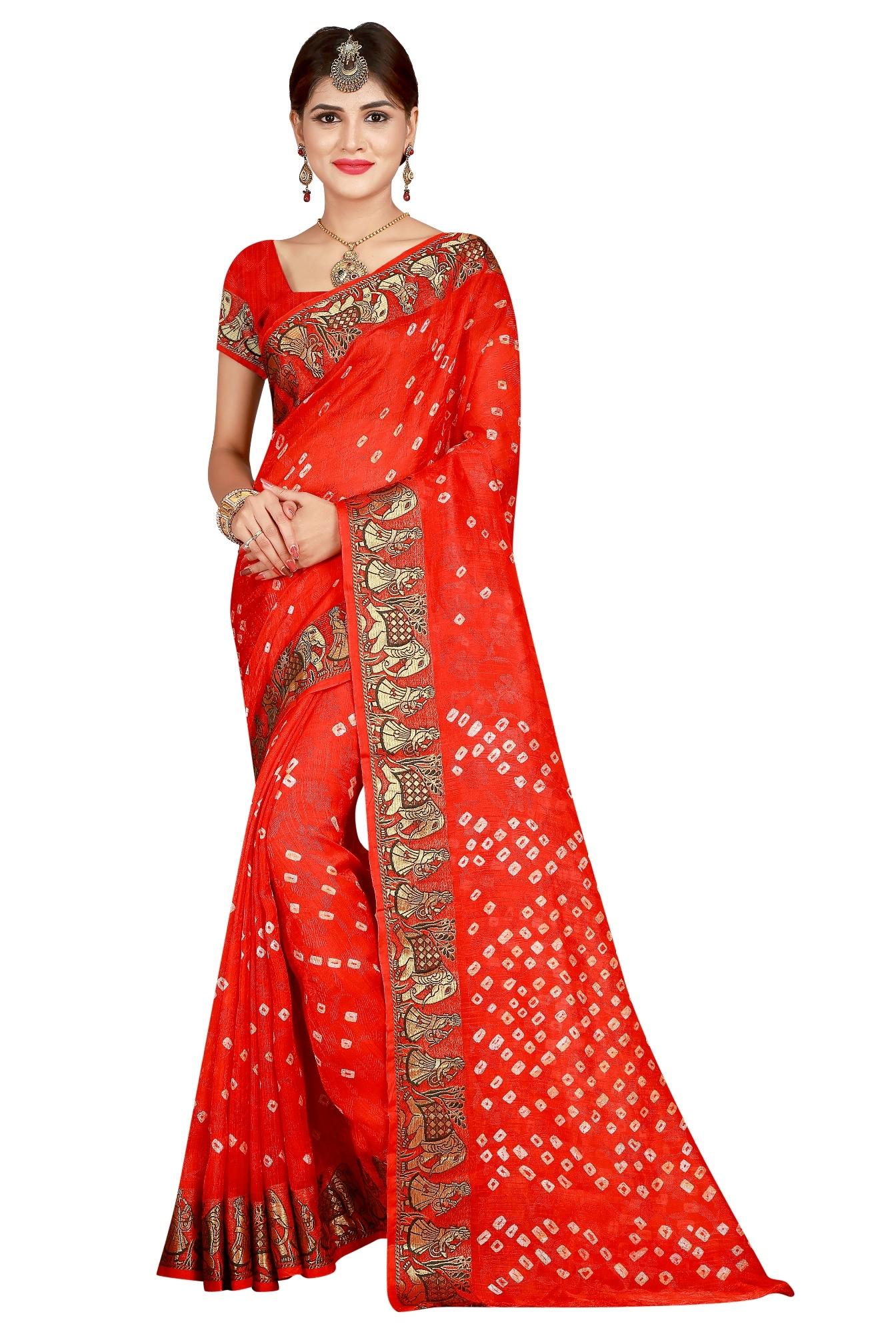 Elephant Design Pure cotton Saree with golden border
