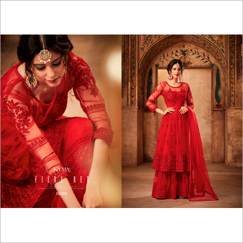 Red Color Anarkali Salwar Suit