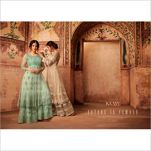 Partywear Embroidered Net Anarkali Salwar Suit