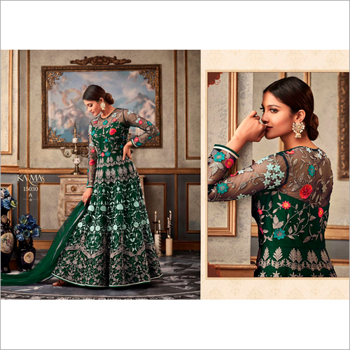 Embroidered Net Anarkali Salwar Suit