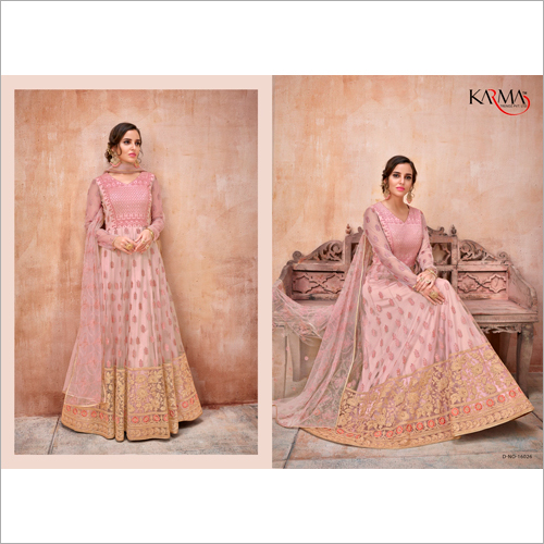 Peach Color Anarkali Salwar Suit