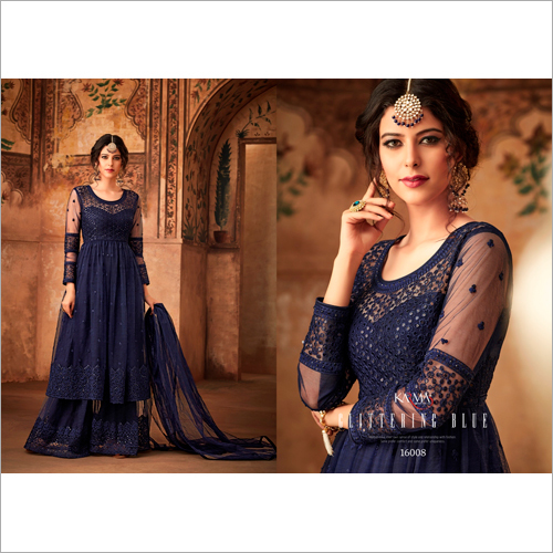 Embroidered Net Salwar Suit