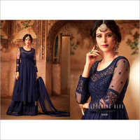 Embroidered Net Salwar Suit