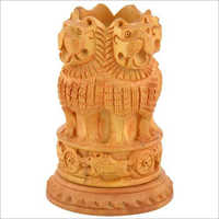 Brown Wooden Ashoka Pillar