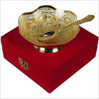 Gold Plated Bowl Spoon Set