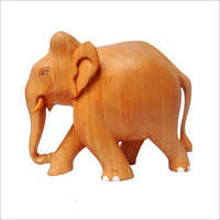 Wooden Plain Elephant Statue