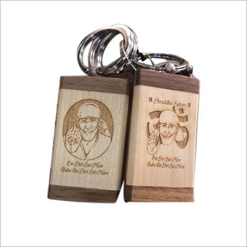 Sai Baba Wooden Keychain