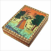 Wooden Painted Jewellery Box