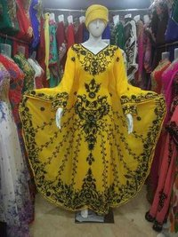 Yellow embroidery gown