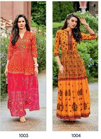 LONG FLAIR KURTI