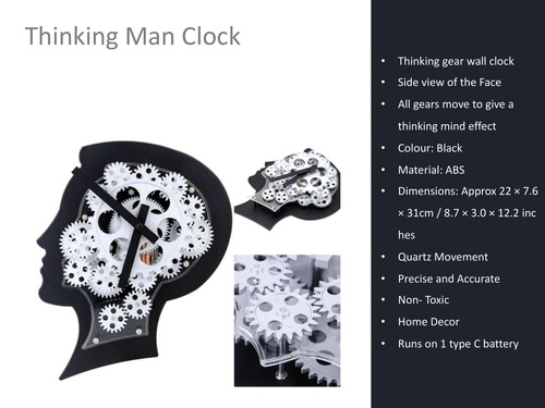 Thinking Men Clock Promotional Gifting.