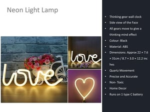Neon Light Love Lamp