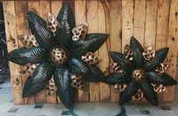 METAL FLOWER SET OF 2 WALL DECOR
