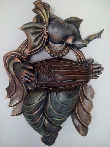 METAL GANESHA WALL PANEL