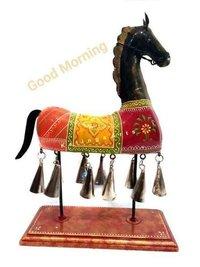 METAL HANDPAINTED BELL HORSE