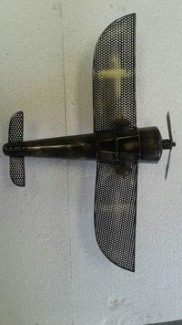 METAL TABLE TOP & WALL DECOR HELICOPTER