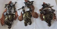 METAL WALL GANESHA SET OF 3