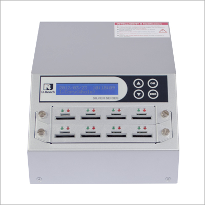 Intelligent 9 Silver Series  1 To 7 Combo SD-MicroSD Card Duplicator And Sanitizer (SD908S)