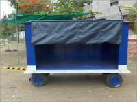 Galvanized Covered Baggage Cart