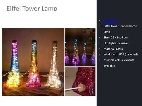 Eiffel Tower Decorative Lamp