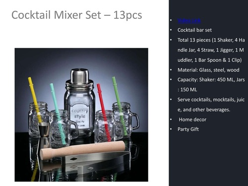 Cocktail Mixer Set - 13 Pcs