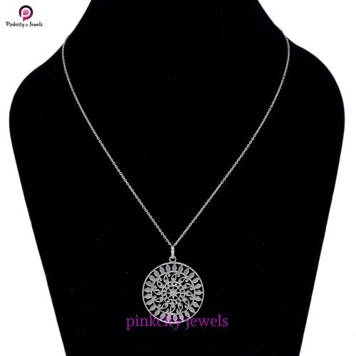Handmade Plain 925 Silver Chain Necklace