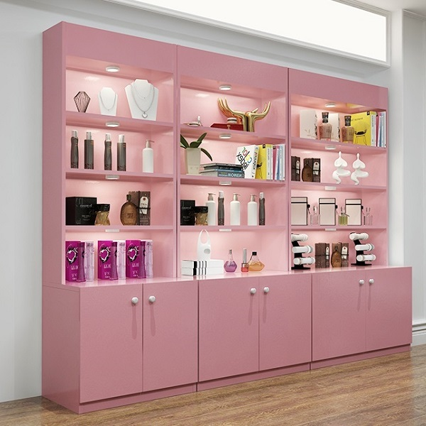 Wooden cosmetic display cabinets