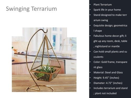Swinging Decorative Terrarium