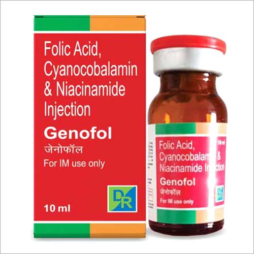 Folic Acid - Cyanocobalamin And Niacinamide Injection