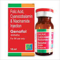 Folic Acid - Cyanocobalamin And Niacinamide Injection