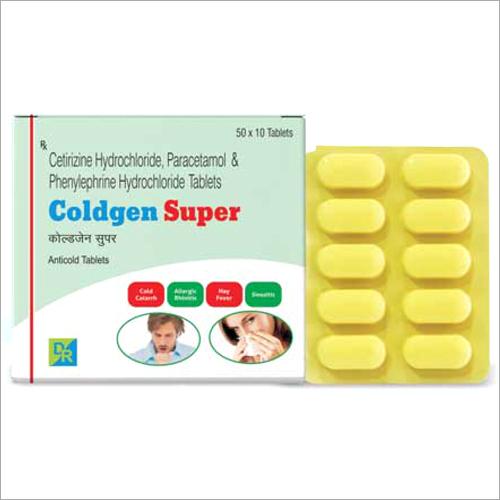 Cetirizine Hydrochloride  Paracetamol And Phenylephrine Hydrochloride Tablets