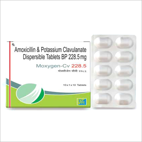 228.5 mg Amoxicillin And Potassium Clavulanate Dispersible Tablets BP