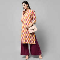 Designer Ladies Kurta With Palazzo