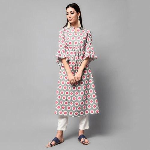 Rayon Printed Ladies Dress