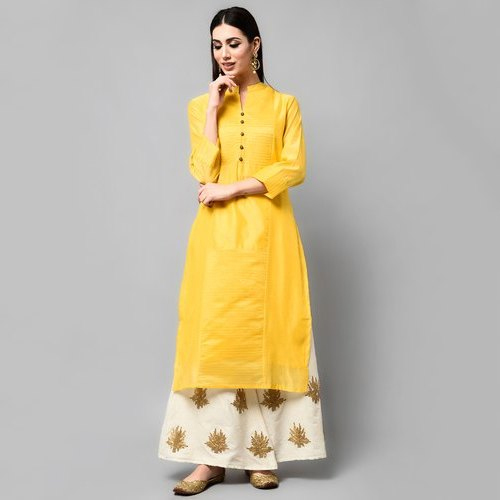Stylish Ladies Yellow Kurti
