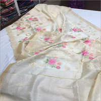Ladies Cotton Embroidery Saree